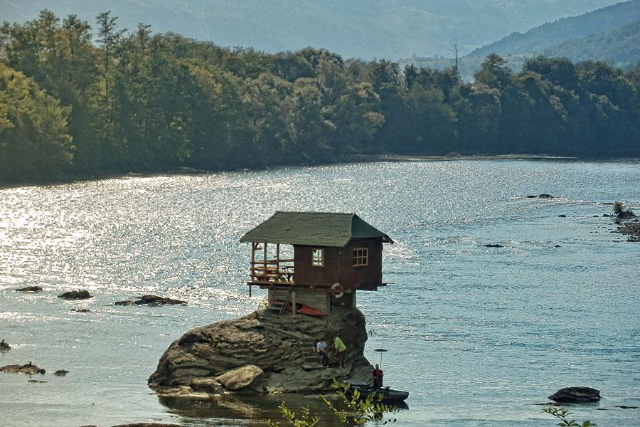Fischen in der Drina